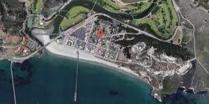 Avilla Beach Aerial Map View