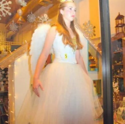 Elegant Dress in Store Window