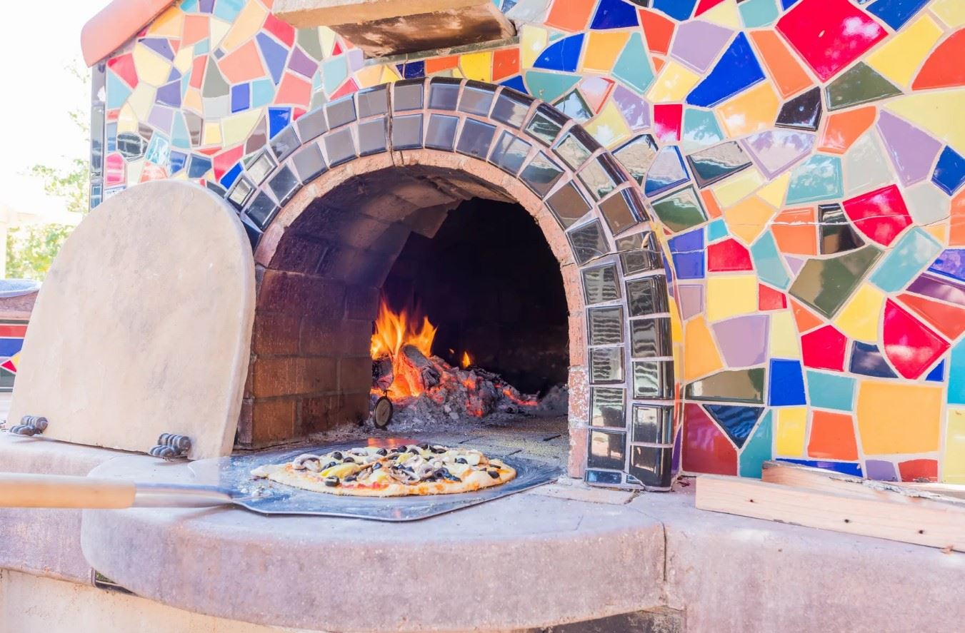 Entertainer's Heaven - Closeup on Pizza Oven in Use