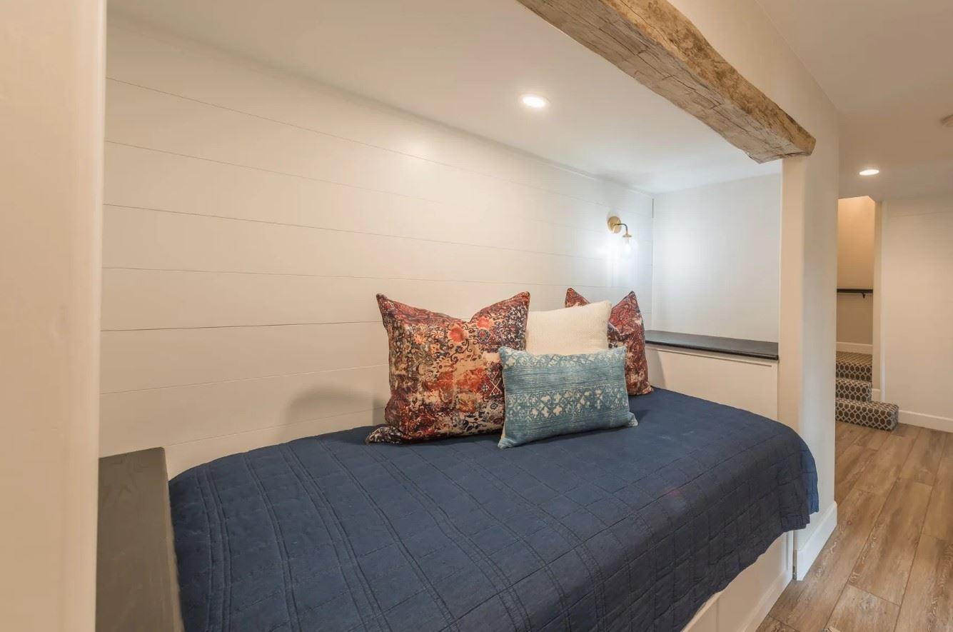 Hilltop Hacienda - Interior - Inset Bed - Wide Shot