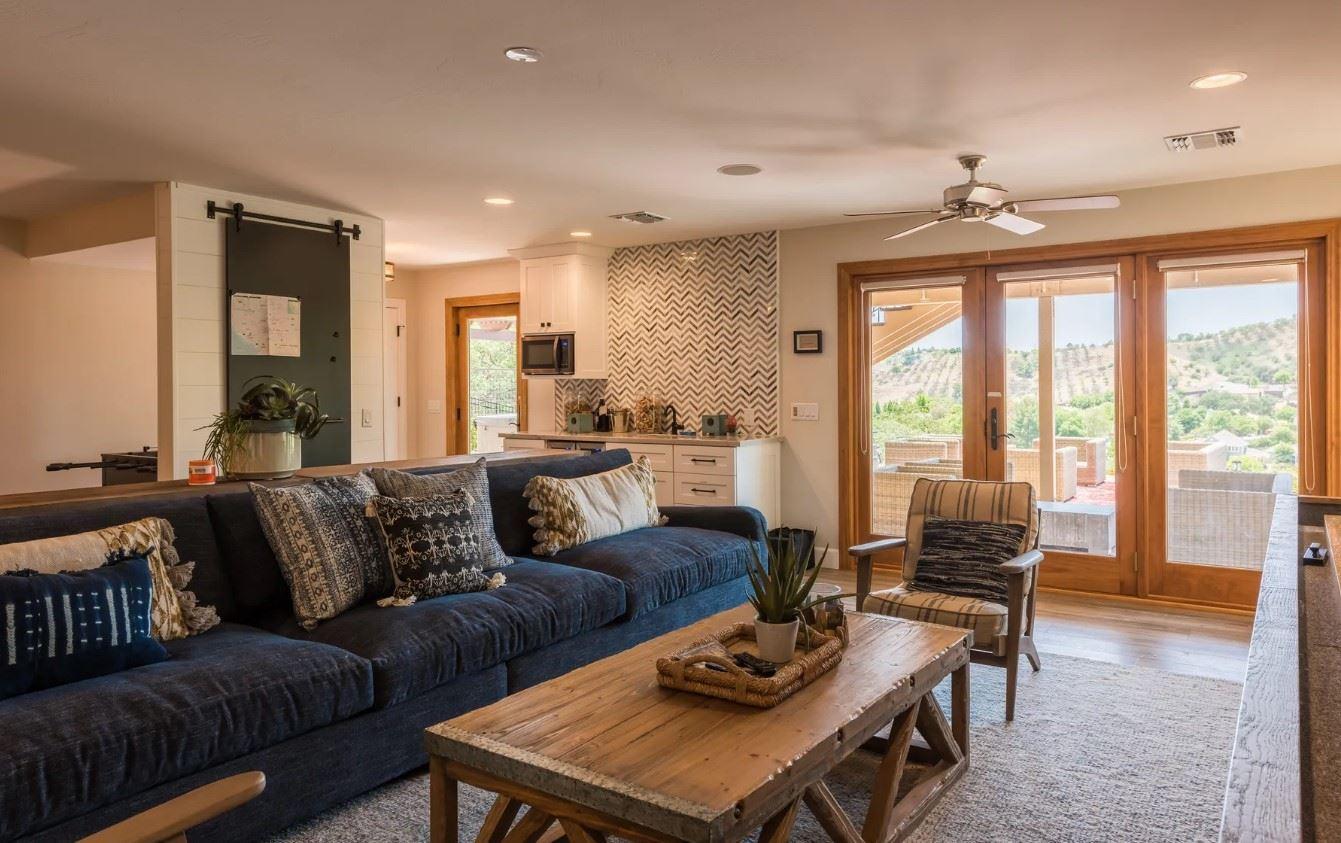Hilltop Hacienda - Interior - Living Area with Kitchenette