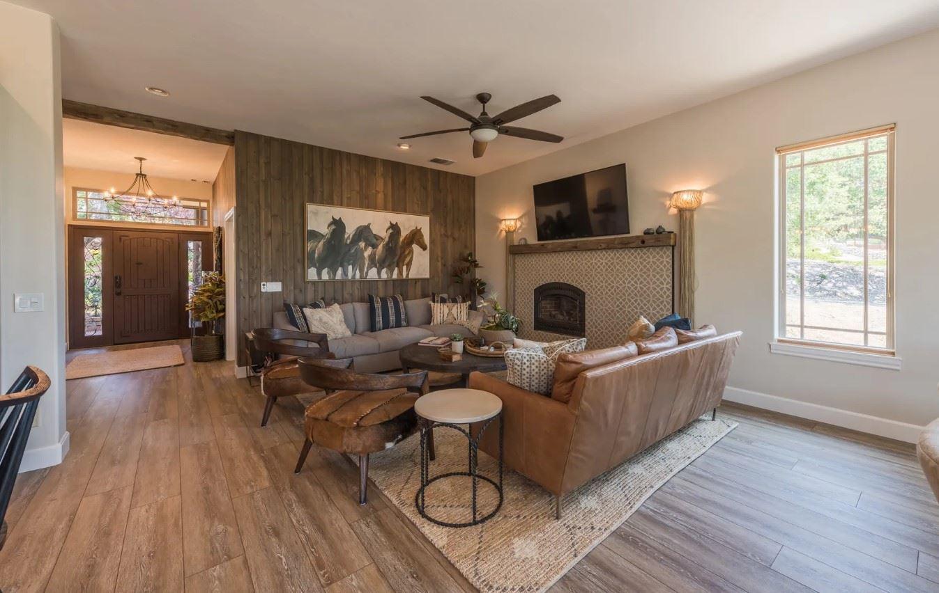 Hilltop Hacienda - Interior - Living Area