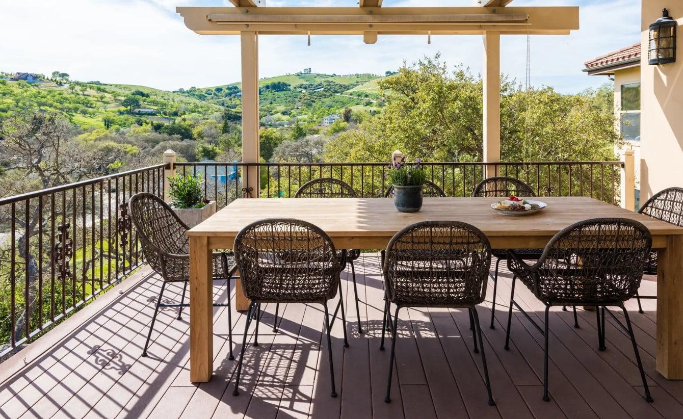 Hilltop Hacienda - Porch Dining Table