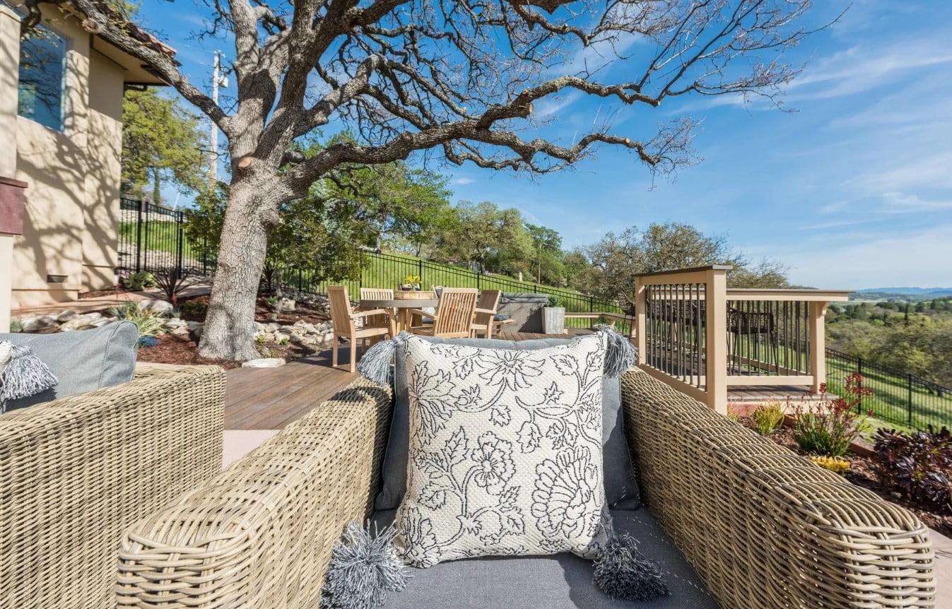 Hilltop Hacienda - Porch Wicker Chairs