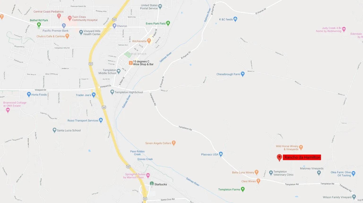 Rancho da Hamilton - Map