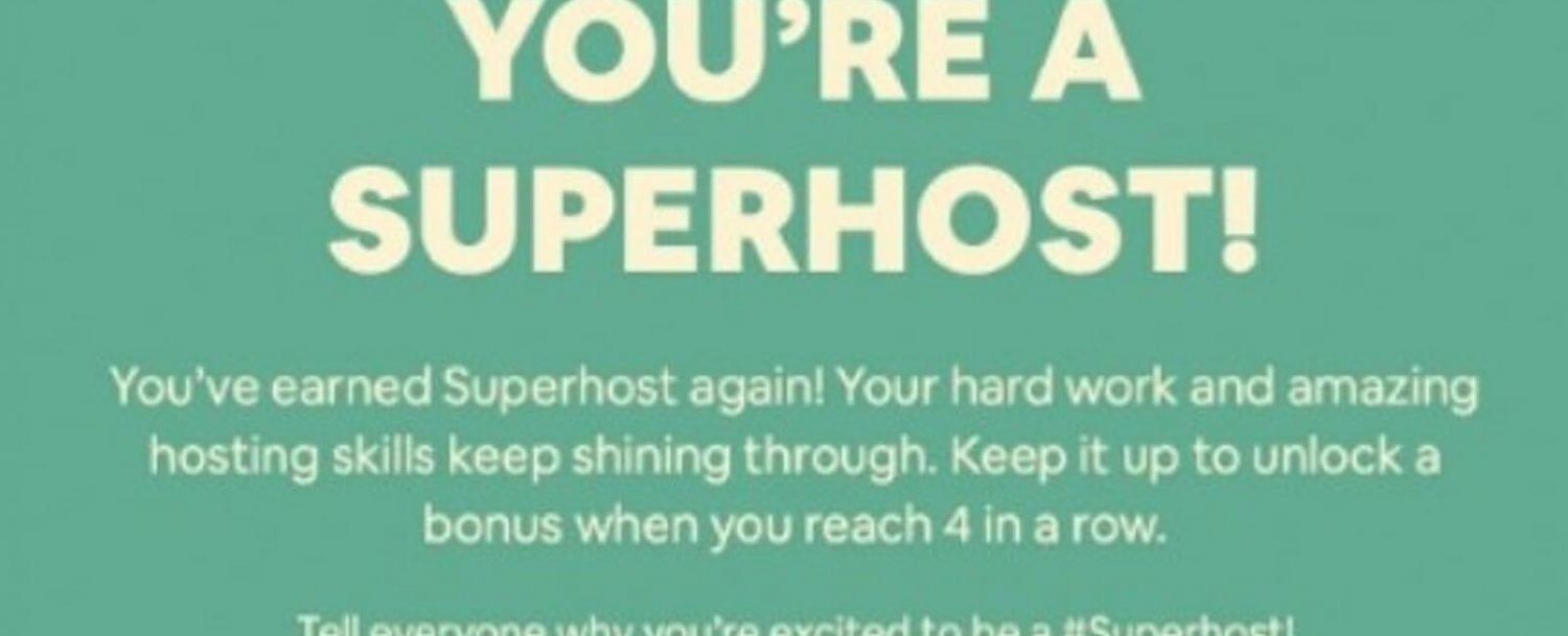 You're A Superhost