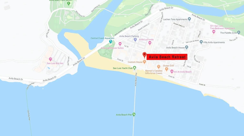 Avila Beach Retreat Map