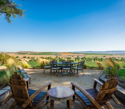Casa de Vina - Exterior - Seating space with rolling hills in the distance