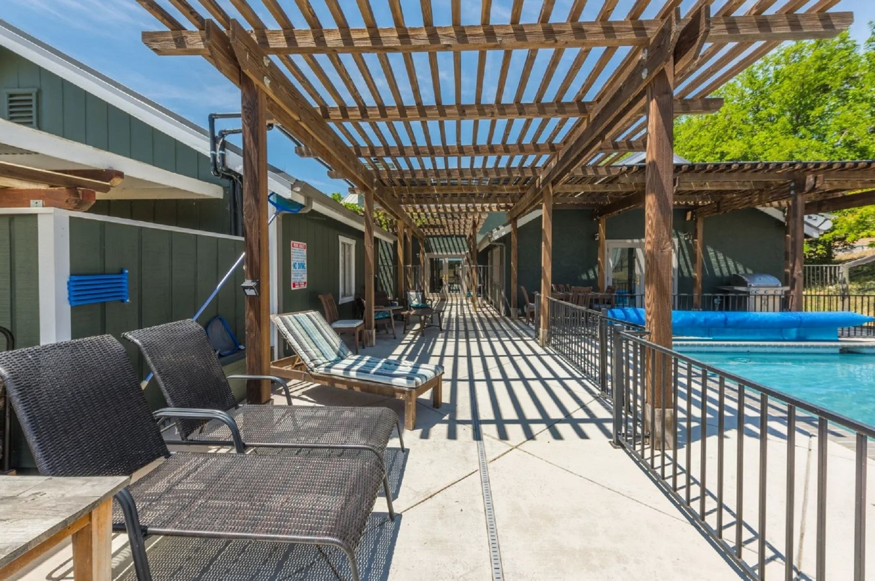 Harvest Ridge Ranch - Exterior - View of Lounge Chairs by the Pool
