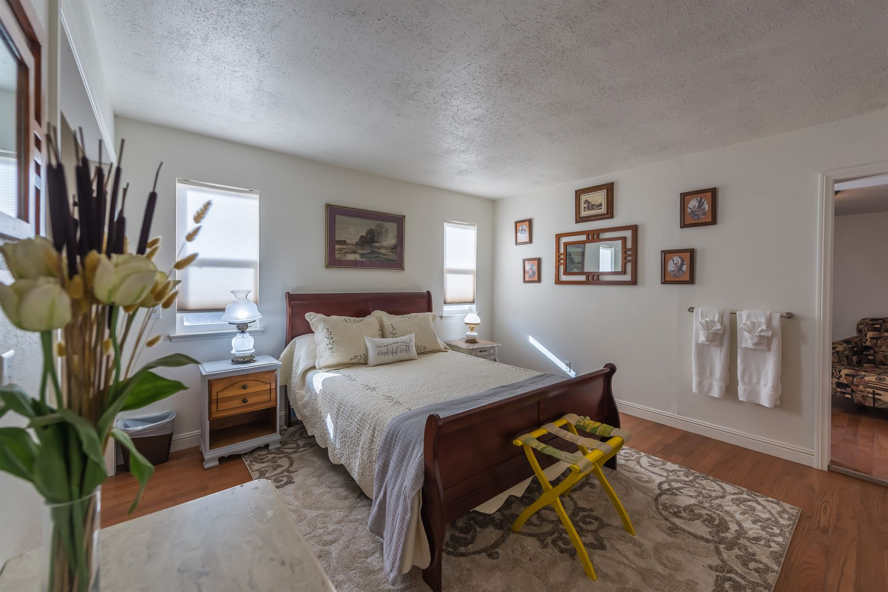 Oak Pass Ranch - Interior - Bedroom wide shot