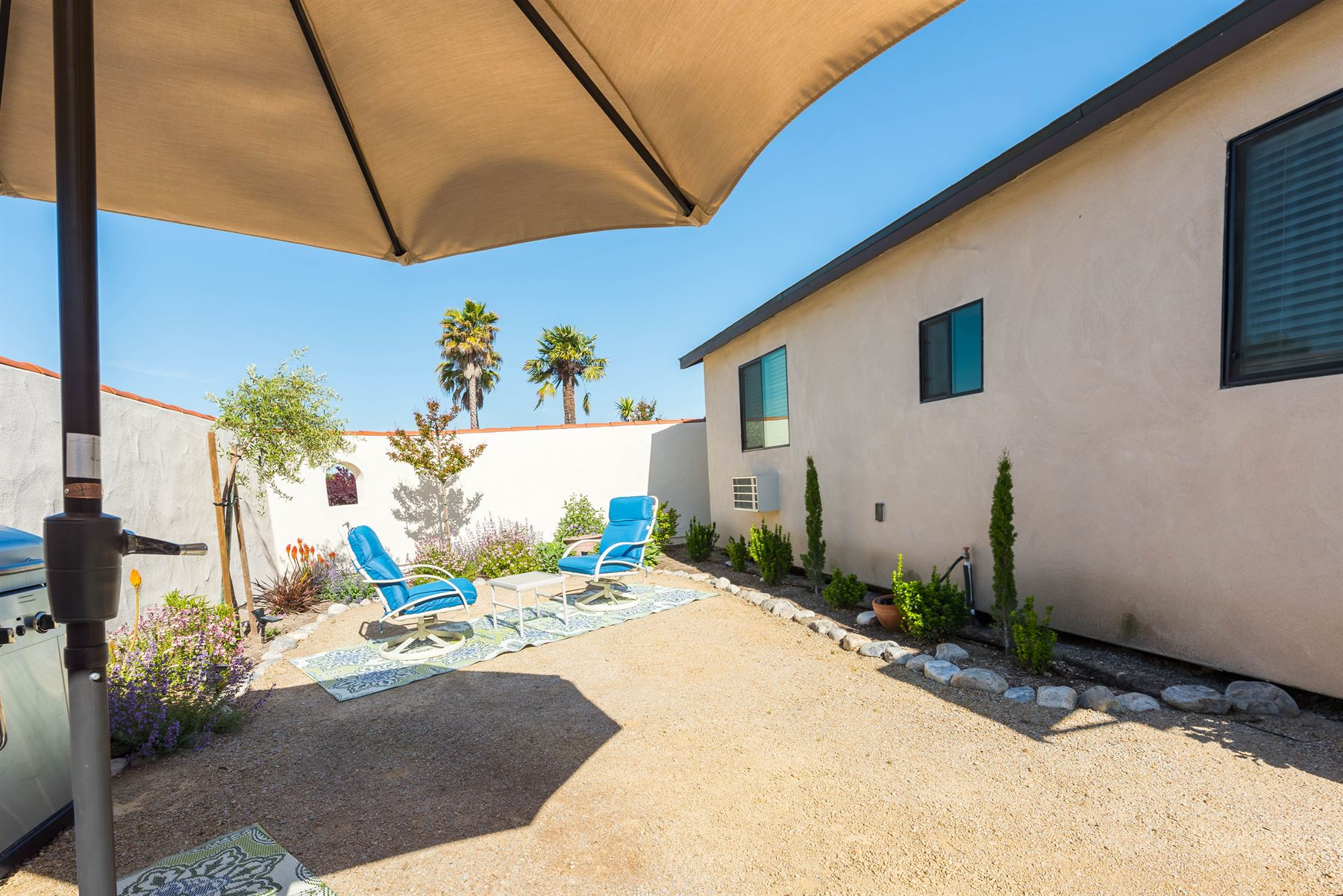 Wine County Casita - Exterior - view of unshaded seating