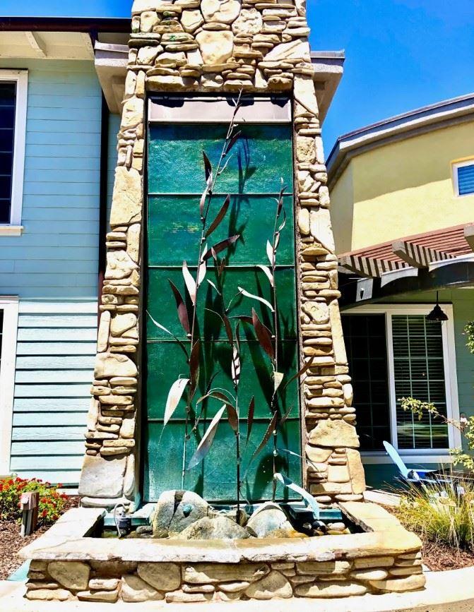 Avila Beach Retreat - Exterior - Pillar waterfall sculpture 2