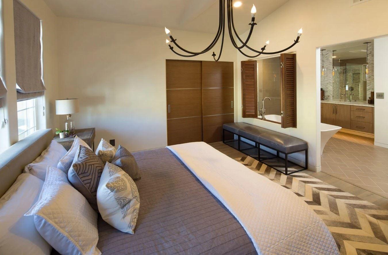 Avila Beach Retreat - Interior - Bedroom with view to bathroom