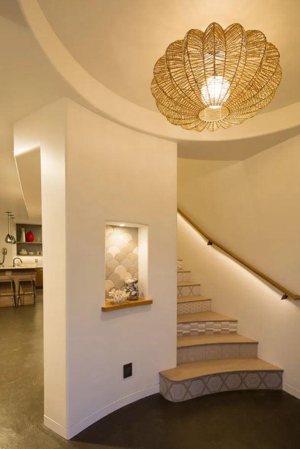 Avila Beach Retreat Interior Entryway and Staircase