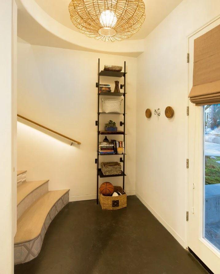 Avila Beach Retreat Interior Entryway with Tall Storage Shelving