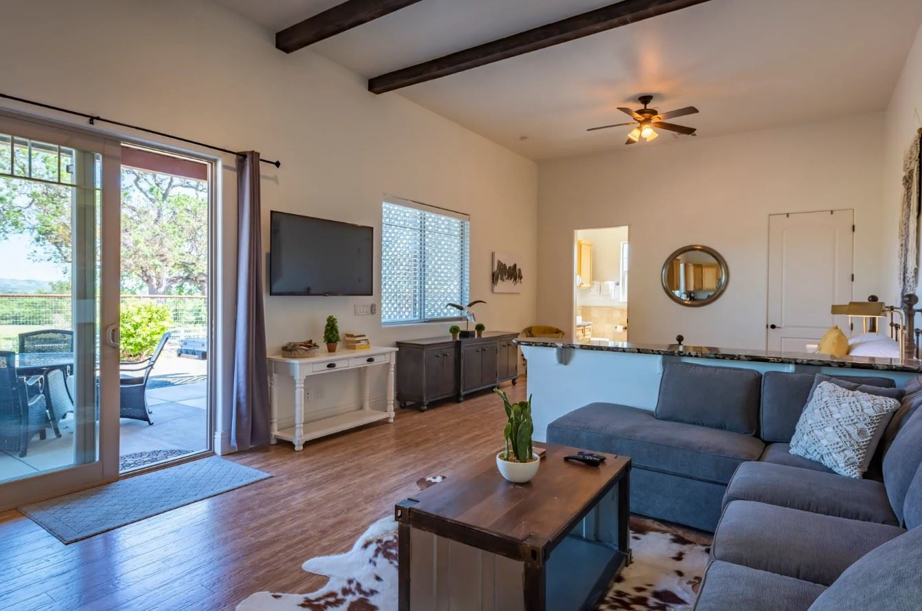 Frontier Hideaway - View from Living Room to Patio