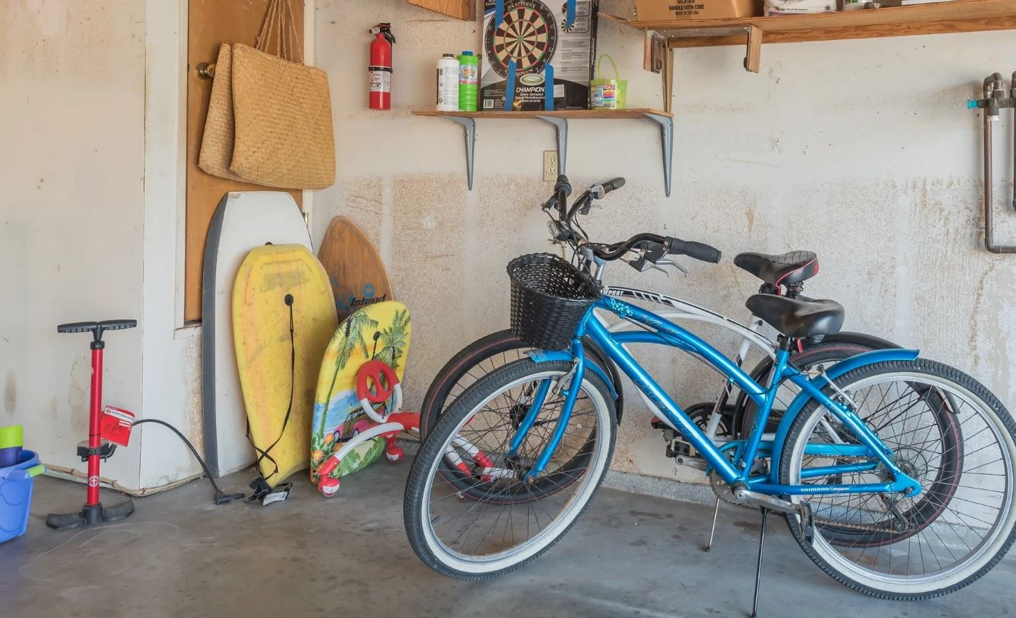 Morro Bay Rock Revival - Interior - View of toys and bikes in garage